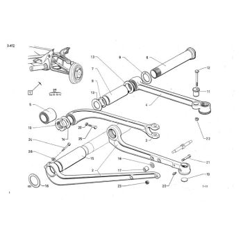 Rolling Chassis - Supporting arm front