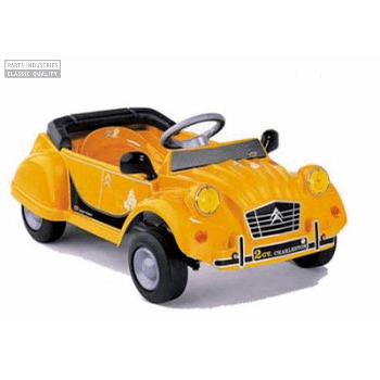 PEDAL CAR CITROEN 2CV YELLOW